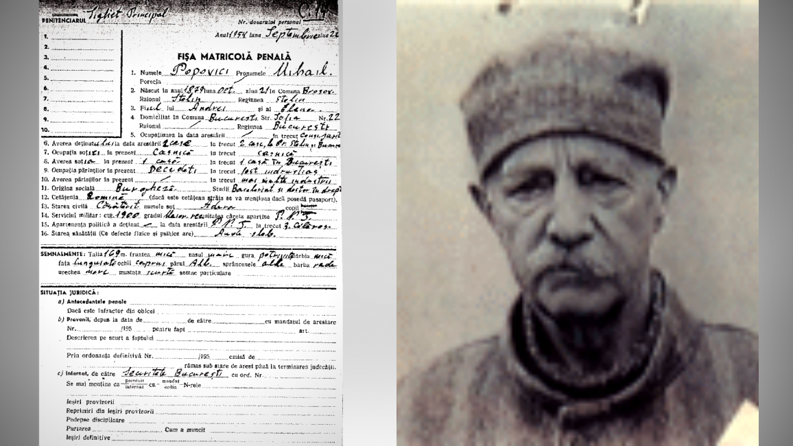 Dosarul lui Mihai Popovici Credit foto: memorialsighet.ro