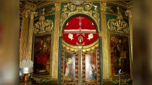 Actuala catapeteasmă din Biserica Sfântra Treime